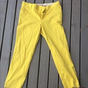 Banana Republic Yellow Patterned Crop Pants 💛💛💛